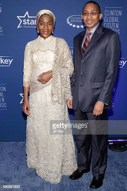 Halima AlikoDangote and Abdu Mukhtar attend the Clinton Global Citizen Awards during the second day of the 2015 Clinton Global Initiative's Annual...