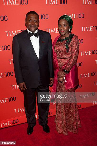 Halima Dangote and Aliko Dangote attends the TIME 100 Gala TIME's 100 Most Influential People In The World at the Frederick P Rose Hall at Lincoln...