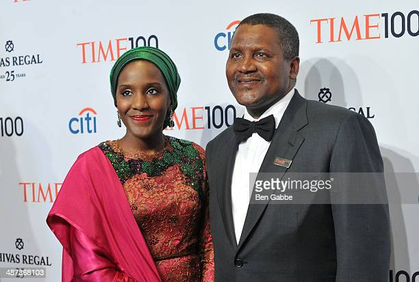 Halima Dangote and Honoree Aliko Dangote attend the TIME 100 Gala TIME's 100 most influential people in the world at Jazz at Lincoln Center on April...