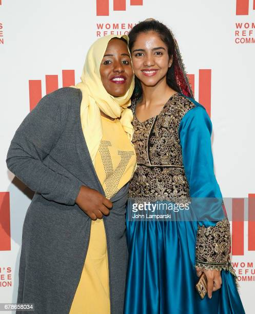 Halima Mohamud Mohamed and Sonita Alizadeh attend the 2017 Women's Refugee Commission Voices Of Courage Awards at Cipriani 42nd Street on May 4 2017...