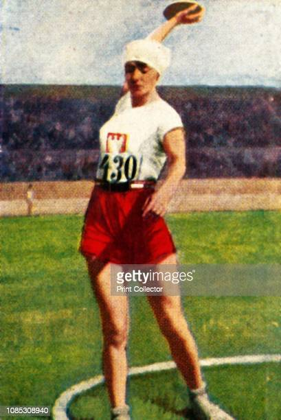 Halina Konopacka of Poland, world champion discus-thrower, 1928. Konopacka became the first Polish Olympic champion after winning gold medal at the...