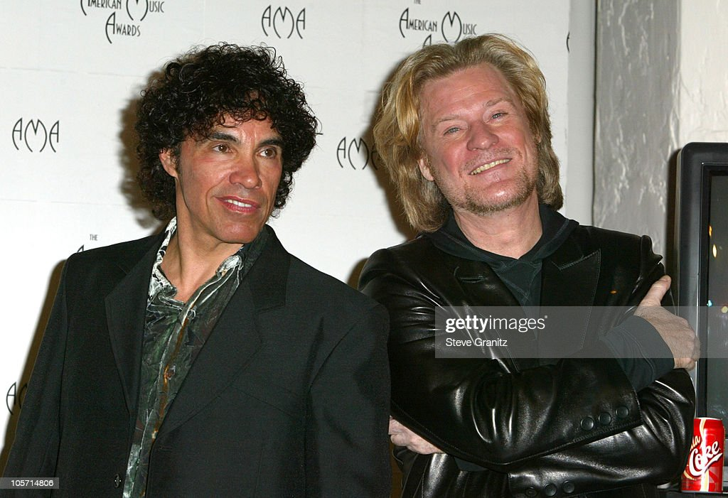 Hall and Oates during The 30th Annual American Music Awards - Press Room at Shrine Auditorium in Los Angeles, California, United States.