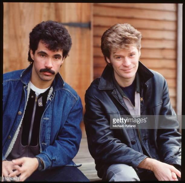 Hall And Oates portrait Upstate New York February 1983 LR John Oates Daryl Hall