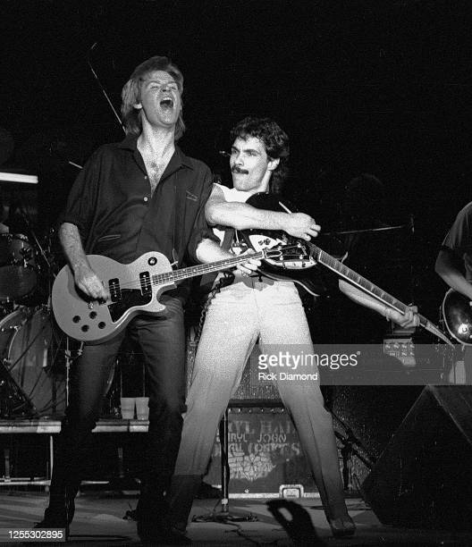Hall & Oates, Daryl Hall and John Oates performs during Z-93 & U.S. Marines Toys for Tots at The OMNI Coliseum in Atlanta Georgia, December 14, 1980...