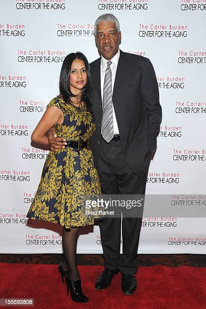 Hall of Fame basketball player Julius Erving and wife Dorys Erving attend The Carter Burden Center For The Aging 41st Anniversary Gala at Mandarin...