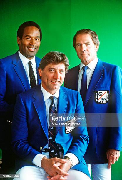 FOOTBALL Hall of Fame Game 8/6/85 OJ Simpson Joe Namath and Frank Gifford Mandatory credit Walt Disney Television via Getty Images PHOTO