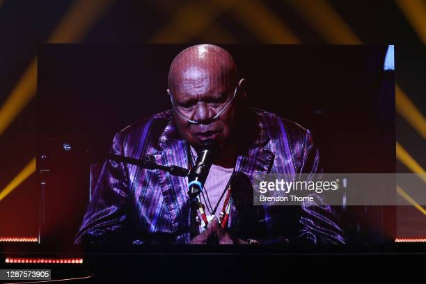 Hall of Fame inductee Archie Roach performs via video link at the 2020 ARIA Awards at The Star on November 25, 2020 in Sydney, Australia.