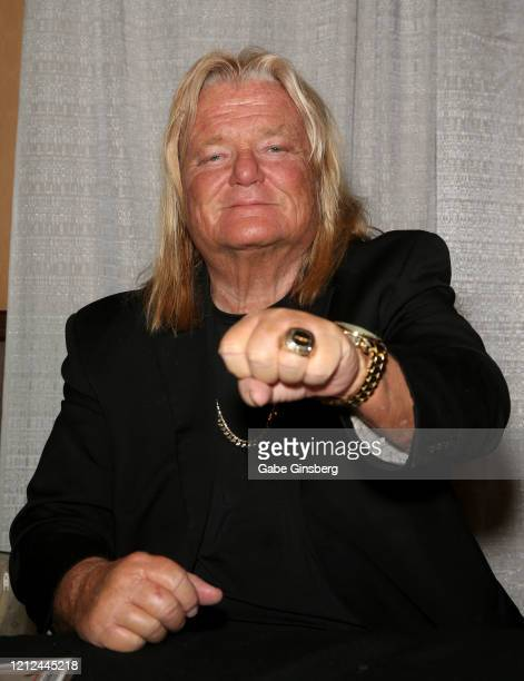 """Hall of Fame inductee Greg """"The Hammer"""" Valentine attends ToyCon 2020 at the Eastside Cannery Casino Hotel on March 14, 2020 in Las Vegas, Nevada."""