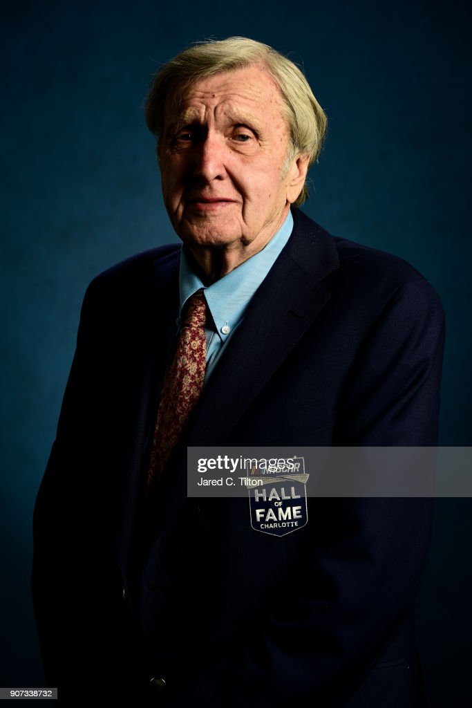 Hall of Fame inductee Ken Squier poses for a portrait during the NASCAR Hall of Fame Induction Ceremony at Charlotte Convention Center on January 19, 2018 in Charlotte, North Carolina.