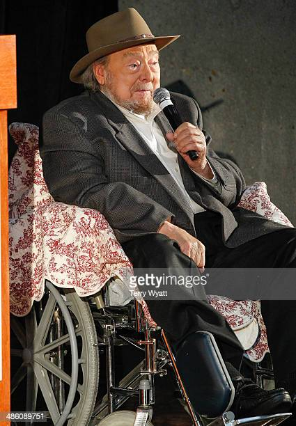 Hall of Fame Inductee Mac Wiseman speaks at the 2014 Country Music Hall Of Fame Inductees Announcement at the Country Music Hall of Fame and Museum...