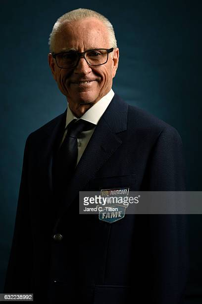 Hall of Fame inductee Mark Martin poses for a portrait prior to the NASCAR Hall of Fame Class of 2017 Induction Ceremony at NASCAR Hall of Fame on...