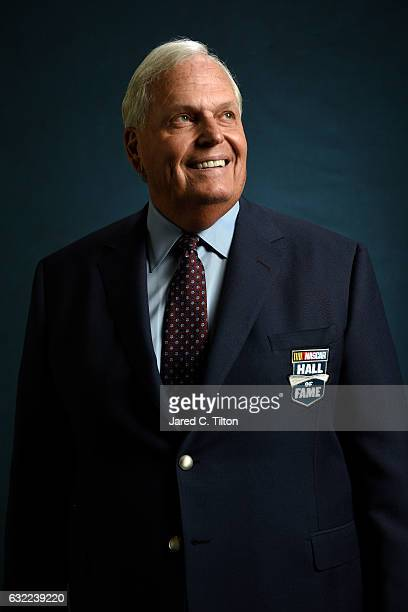 Hall of Fame inductee Rick Hendrick poses for a portrait prior to the NASCAR Hall of Fame Class of 2017 Induction Ceremony at NASCAR Hall of Fame on...