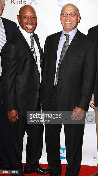 Hall of Fame legend Reggie Jackson and singer Jeffrey Osborne attend the 8th All Star Celebrity Classic benefiting the Mr October Foundation for Kids...