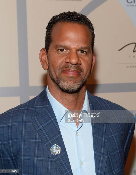 Hall of Fame member Andre Reed arrives at the Coach Woodson Las Vegas Invitational red carpet and pairings gala at 1 OAK Nightclub at The Mirage...