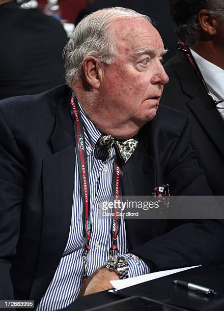 Hall of Fame member Bill Torrey of the Florida Panthers attends the 2013 NHL Draft at Prudential Center on June 30 2013 in Newark New Jersey