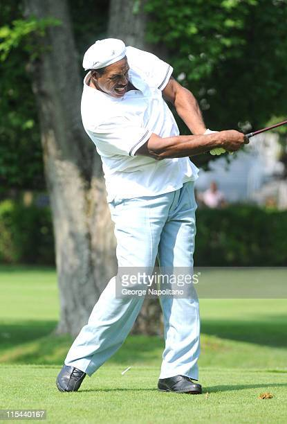 Hall of Fame member Dave winfield at the 2008 MLB Hall of Fame Weekend golf tournament at the Leatherstocking Golf Course at the Otesga Hotel on July...