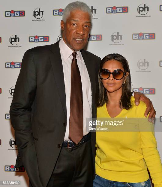 Hall of Fame member Julius Dr J Erving and his wife Dorys Madden attend the 2017 BIG3 basketball league draft at Planet Hollywood Resort Casino on...