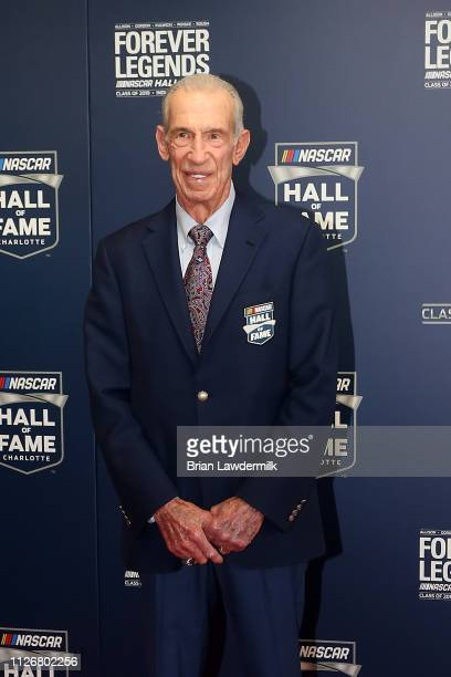 Hall of Fame Member Ned Jarrett poses for a photo during the 2019 NASCAR Hall of Fame Induction Ceremony at the Charlotte Convention Center on...