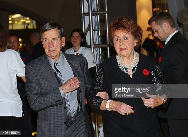 Hall of Fame member Ted Lindsay walks the red carpet prior to the 2015 Hockey Hall of Fame Induction Ceremony at Brookfield Place on November 9 2015...