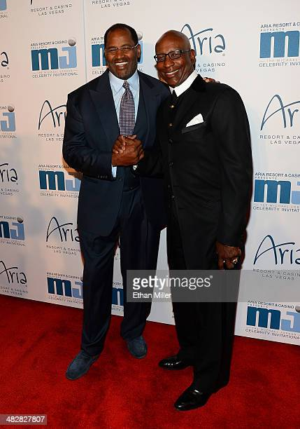Hall of Fame National Football League player Richard Dent and Hall of Fame National Football League player Eric Dickerson arrive at the 13th annual...