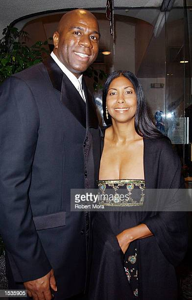 Hall of Fame player Earvin Magic Johnson and wife Cookie attend the Friars Club Lifetime Achievement Award Gala in Johnson's honor at the Friar's...