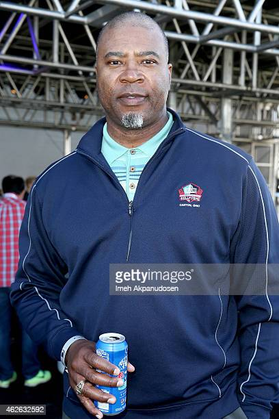 Hall of Fame professional football player Chris Doleman attends the DIRECTV Super Fan Tailgate at Pendergast Family Farm on February 1 2015 in...