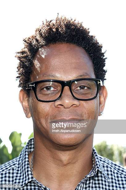 Hall of Fame professional football player Eric Davis attends the DIRECTV Super Fan Tailgate at Pendergast Family Farm on February 1 2015 in Glendale...