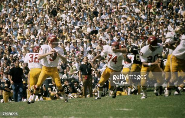 Hall of Fame quarterback Sonny Jurgensen of the Washington Redskins drops back to pass during the Redskins 2620 victory over the New Orleans Saints...