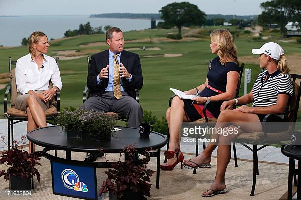 Hall of Famer Annika Sorenstam LPGA commissioner Mike Whan Kelly Tilghman of Golf Channel and LPGA player Cristie Kerr discuss the state of the LPGA...