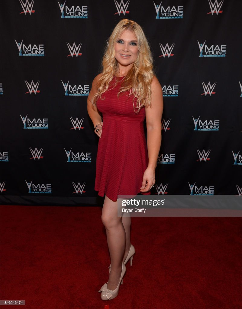 Hall of Famer Beth Phoenix appears on the red carpet of the WWE Mae Young Classic on September 12, 2017 in Las Vegas, Nevada.
