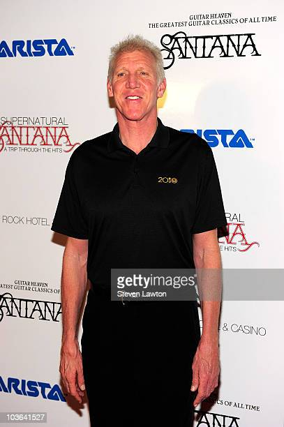 NBA hall of famer Bill Walton arrives to unveil Santana's new album Guitar Heaven at the Vanity nightclub at the Hard Rock Hotel Casino on August 25...