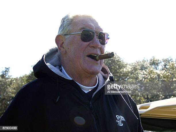 Hall of Famer Bob St Clair competes in the 20th annual Super Bowl NFL Charities Golf Classic at Amelia Island Plantation February 5 2005