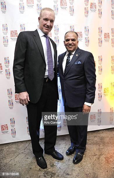 Hall of Famer Chris Mullin and Samaritan Daytop Village CEO President Tino Hernandez attend the 2016 Samaritan Daytop Foundation Gala at Tribeca...