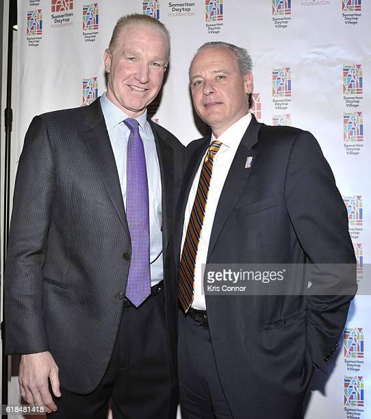 Hall of Famer Chris Mullin and Samaritan Village CFP John Iammatteo attend the 2016 Samaritan Daytop Foundation Gala at Tribeca Rooftop on October 26...