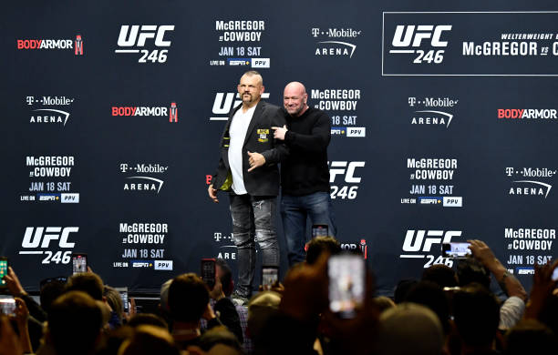 NV: UFC 246 McGregor v Cowboy: Weigh-Ins
