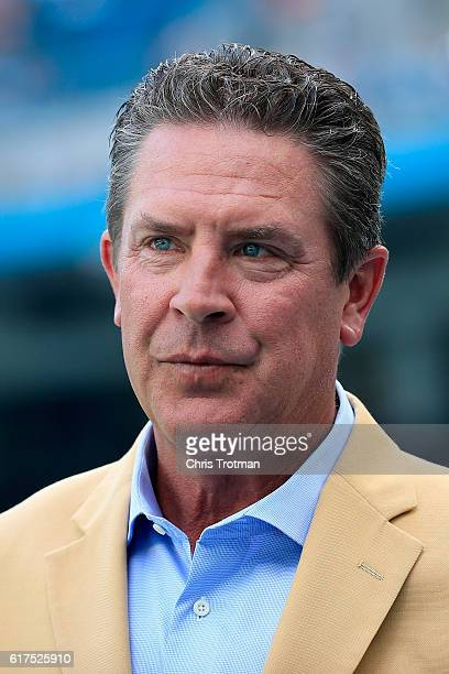 Hall of Famer Dan Marino looks on prior to a game against the Miami Dolphins at Hard Rock Stadium on October 23 2016 in Miami Gardens Florida
