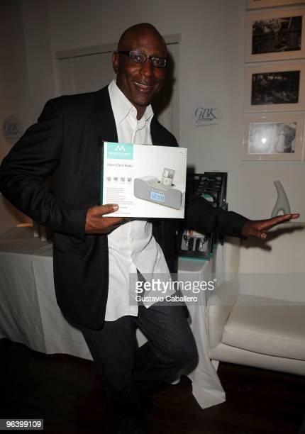 Hall of Famer Eric Dickerson attends the GBK Gift Lounge at Player's Press PreSuper Bowl Party at Sagamore Hotel on February 3 2010 in Miami Beach...