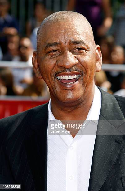 NBA Hall of Famer George Gervin arrives at the 2008 ESPY Awards held at NOKIA Theatre LA LIVE on July 16 2008 in Los Angeles California The 2008...