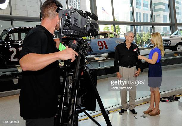 Hall of Famer Glen Wood speaks after Voting Day at the NASCAR Hall of Fame on May 23 2012 in Charlotte North Carolina