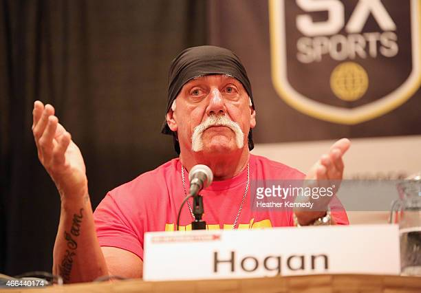 Hall of Famer Hulk Hogan speaks onstage at 'Hit A Home Run With Content Creation And Streaming' during the 2015 SXSW Music Film Interactive Festival...