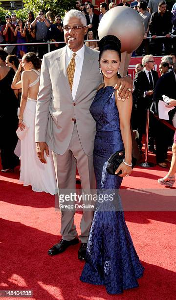 Hall of Famer Julius Erving and wife Dorys Erving arrive at the 2012 ESPY Awards at Nokia Theatre LA Live on July 11 2012 in Los Angeles California