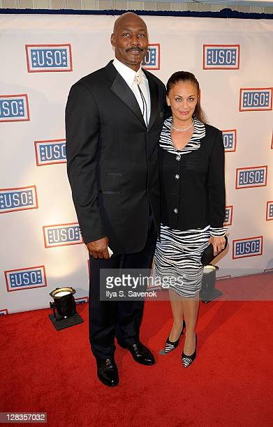 NBA Hall of Famer Karl Malone with his wife Kay Malone attend the 2011 USO Gala and USO Service Member of the Year Awards at the Marriott Wardman...