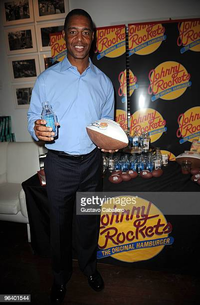 Hall of Famer Marcus Allen attends the GBK Gift Lounge at Player's Press PreSuper Bowl Party at Sagamore Hotel on February 3 2010 in Miami Beach...