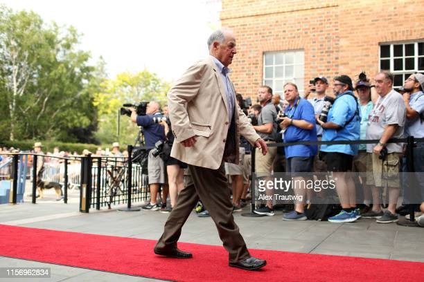 Hall of Famer Pat Gillick arrives during the 2019 Hall of Fame Parade of Legends at the National Baseball Hall of Fame on Saturday July 20 2019 in...