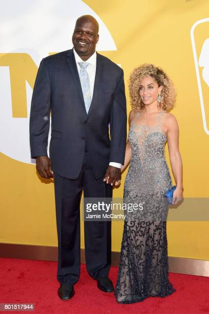 Hall of Famer Shaquille O'Neal and Laticia Rolle attend the 2017 NBA Awards live on TNT on June 26 2017 in New York New York 27111_003