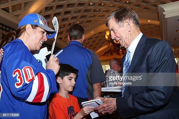 Hall of Famer Ted Lindsay arrives at the 2014 NHL Awards at Encore Las Vegas on June 24 2014 in Las Vegas Nevada
