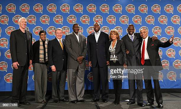Hall of Famers Bill Walton Lynette Woodward Jerry Colangelo Dominique Wilkins Earvin Magic Johnson Nancy Lieberman Kevin Special K Daley and Curly...