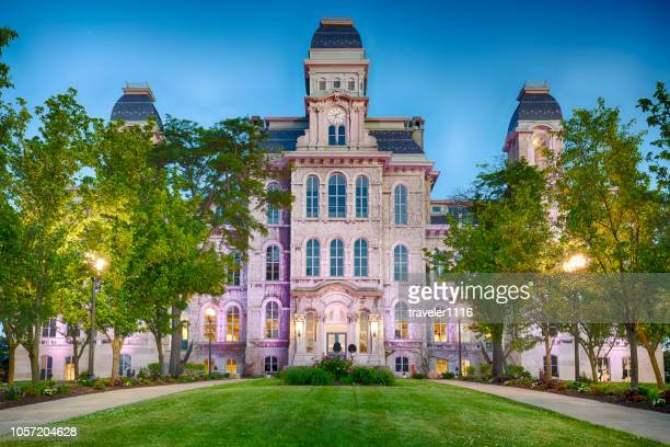hall of languages at syracuse university in syracuse, new york - syracuse new york stock pictures, royalty-free photos & images