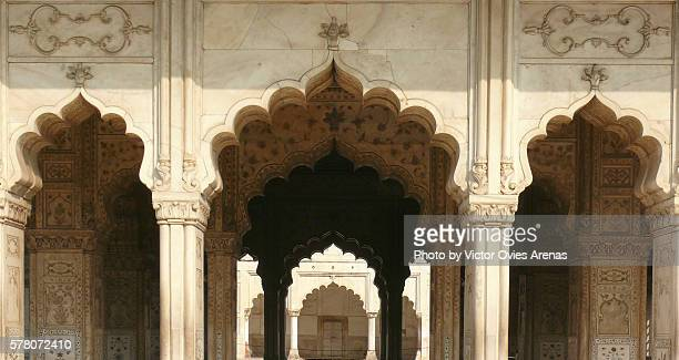 Hall of Private Audiences in the Red Fort of Delhi, India
