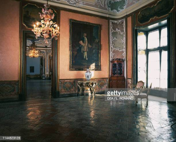 Hall of representation Biscari palace Catania Sicily Italy 18th century